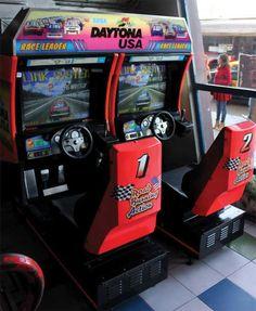 A dual-seat Daytona arcade cabinet. Daytona was among the last generation of arcade games I played, before arcades gradually started turning into gambling halls.