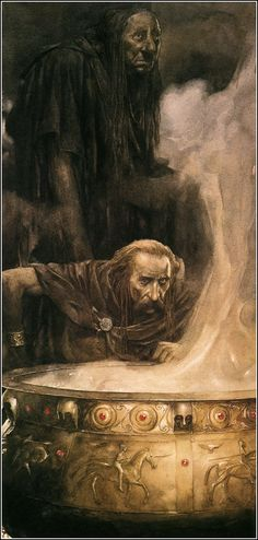 Alan Lee - Branwen, Daughter of Llyr (off 'The Mabinogion') Alan Lee, Hobbit, Children's Book Illustration, Illustrations, Tolkien, Alchemy Art, Legends And Myths, Principles Of Art, Fantasy Inspiration
