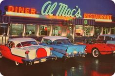1957 Olds, 1957 Chevy, 1956 Vette