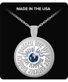 Christian Pendant Necklace with Bible Scripture