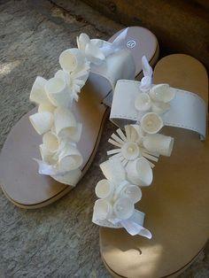 handmade silk cocoons sandals No78