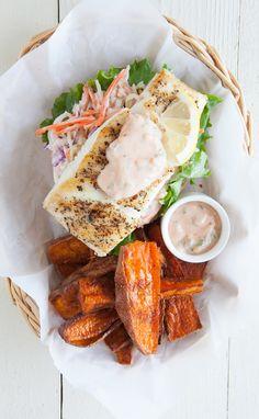#Epicure Halibut Burgers with Coleslaw http://michellestevenson.myepicure.com/