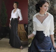 Black And White Elegant Mother Of The Bride Dresses Long Sleeves Floor Length Taffeta Mermaid A Line Formal Dress Evening Gowns 2020 Spring The Doctors Mom Mother Of The Bride Suit From Alberta_dress, € Mob Dresses, Ball Dresses, Dresses With Sleeves, Peplum Dresses, Pageant Dresses, Half Sleeves, Vestidos Mob, Vestidos Vintage, Vintage Dresses