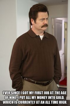 Ron Swanson / Parks and Recreation / #ParksandRec