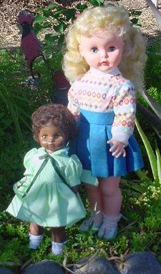 "~ Cute Vinyl ""Ruthie"" Dolls ~ (1950's)"