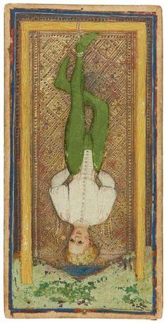 The Hanged Man  | Visconti-Sforza Tarot Cards | 1450-1480 | Morgan Library & Museum | Museum #: MS M.630 (no. 1)