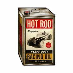 Hot Rod Magazine Vintage Metal Sign Racing Oil Garage