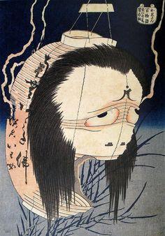 「お岩さん」(上)(1831~32年/『百物語』より) 葛飾北斎 70〜71歳ごろ