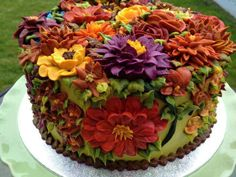 beatiful flowers cake (only photo)