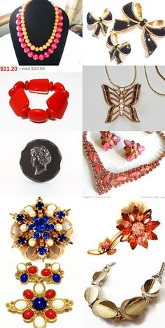 #Vintage #Jewelry From Some Of My Favorite Shops Here are some lovely #vintage #jewelry items from some of my favorite shops on #Etsy, hope you agree, please promote as time allows. Thanks, Patsy, brightgemstreasures;0) #teamlove #etsy #brightgems