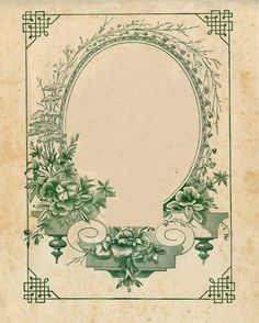 Vintage Ephemera Clip Art - Amazing Sheet Music Frame - The Graphics Fairy