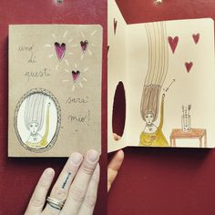 notebook   One of these is going to be mine! #illustration #hearts #love #choice #handmade #giadafloris