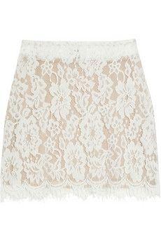 Imitation Laura lace mini skirt NET-A-PORTER.COM - StyleSays