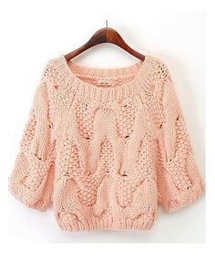 Wholesale Korean version installed fluorescent color hand-crocheted butterfly short sweater ND-X6700 - Lovely Fashion