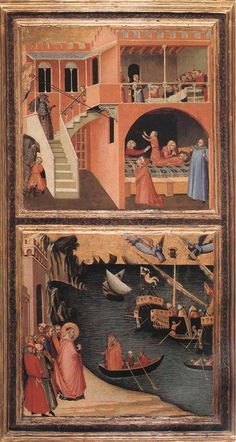 Shadowbox Painting: Scenes of the Life of St Nicholas by Ambrogio Lorenzetti