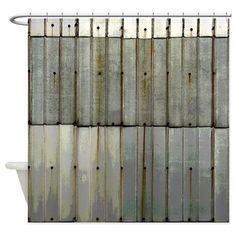 Industrial Shower Curtain Rusty Grunge Retro Print for Bathroom