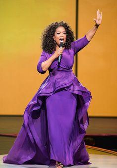 """AHHHH. The Life You Want tour has been amazing."" Dark Autumn, Queen Latifah, Purple Love, Shades Of Purple, Purple Dress, Oprah Winfrey, Up Girl, Girl Boss, Wedding Inspiration"