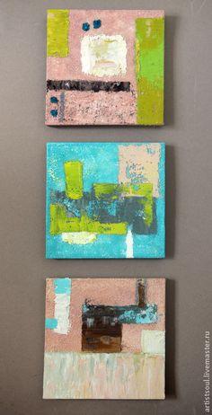 Абстрактная живопись. Marshmallow. Handmade.