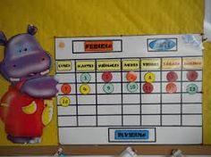 Resultado de imagen para calendario rutinas educacion infantil