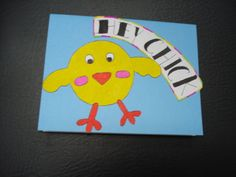 """Hey Chick"" Blank Card"