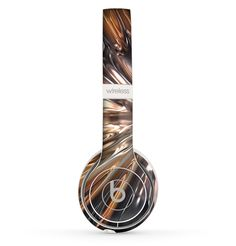 The Gold Distracted Mercury Skin Set for the Beats by Dre Solo 2 Wireless Headphones