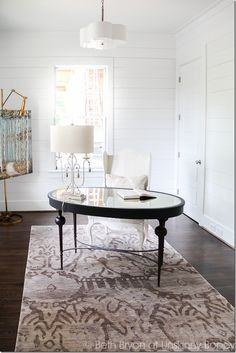 Shiplap walls and FANTASTIC desk with beautiful lighting-- Here's what to expect from the 2016 Birmingham Parade of Homes | Unskinny Boppy
