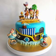 Life is too short, eat desserts: Jack and the Neverland Pirates Themed Cake