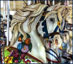 This carousel still operates at Nantasket Beach in Hull, Massachusetts. It was one of the last built by the Philadelphia Toboggan Company. The animals were carved by hand by artists who certainly knew equine anatomy. In May, this popular attraction won $ 100,000 grant from American Express and the National Trust for Historic Preservation. Photo by Muffet, via Flickr