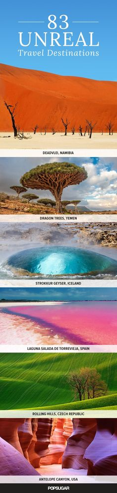 83 Unreal Places You Thought Only Existed in Your Imagination travel destinations #travel #wanderlust #explore