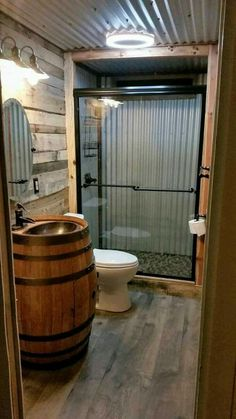 barndominium ideas floor plans Barndominium Floor Plans, Pole Barn House Plans and Metal Barn Homes Cabin Bathrooms, Tiny House Bathroom, Barn Bathroom, Small Bathroom, Bathroom Vanities, Garage Bathroom, Man Cave Bathroom, Basement Bathroom Ideas, Master Bathroom