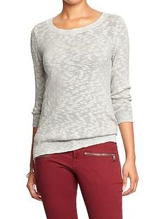 Marled Crew-Neck Sweaters | Old Navy