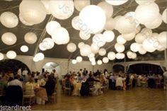 "10x Round White Paper Lanterns 8"" 10"" 12"" 16"" Wedding Party with LED Light Decor | eBay"
