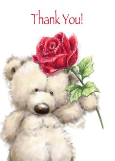Cute Bear with Big Red Rose, Happy Mother's Day card. Personalize any greeting card for no additional cost! Cards are shipped the Next Business Day. Happy Mother's Day Card, Happy Valentines Day Card, Happy Mothers Day, Happy Birthday To Niece, Image Elephant, Teddy Bear Pictures, Tatty Teddy, Holiday Pictures, Cute Teddy Bears