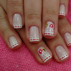Linda! Nail Color Combinations, Feet Nail Design, Feet Nails, Dream Nails, How To Make Hair, Manicure And Pedicure, Christmas Nails, Nail Colors, Nail Art Designs