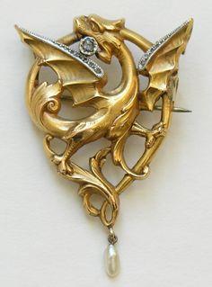 Vintage BROOCH Pin Badgss Job Lot Chinese Dragon