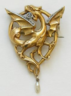 French Art Nouveau Dragon...   Want it..  Need it..  It will make me feel pretty