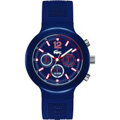 Lacoste - Men's Blue Borneo Chronograph Watch - 2010703  Online price: £99.00  www.lingraywatches.co.uk