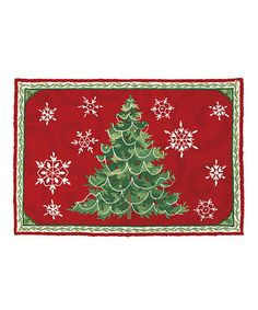 Look at this #zulilyfind! Christmas Snowflake Wool-Blend Rug #zulilyfinds