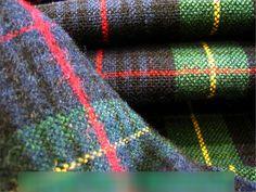 TARTAN BURNS NIGHT Kilt Blanket Brush fabric Blackwatch table runner material G