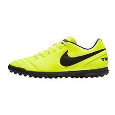 223ef5bb5144 Nike TIEMPOX RIO III TF mens soccer-shoes 819237-707 8.5 - VOLT BLACK-VOLT