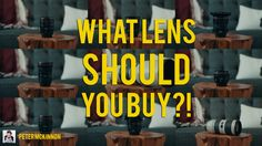 What LENS should YOU BUY?!   What lens should you buy? I asked the same questions when I wasn't quite sure on where to invest my money. There are so many lens choices and variations that it can be pretty overwhelming!  I shoot Canon so I am using Canon lenses as an example for this video because I know them the best. By no means do YOU have to buy canon and I'm not telling you that THESE ARE THE ONES TO HAVE! I am however talking about the focal lengths F stop and overall use of lenses and…