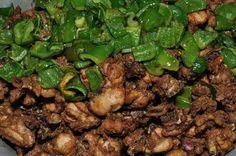 Deep Fried Capsicum & Chicken - Bengali Cuisine