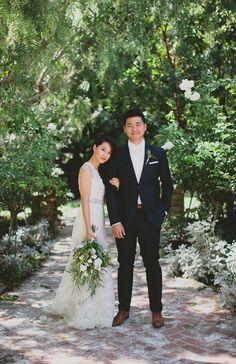 Photography: Marvin Tsai Photography  Read More: http://www.stylemepretty.com/california-weddings/2014/05/09/romantic-biola-university-wedding/