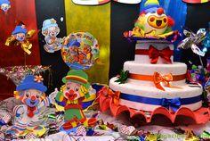 Detalhes da Decoração de Festa Patati Patatá #decoracao #decoration #patatipatata #palhaços #clowns #colorido #colorful #festa #party