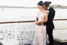 Here are the all the details from beauty blogger Chloe Morello's wedding to Sebastian Maximiliano aboard the Sydney Seadeck Cruise.