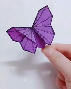 Butterfly Bookmarking Tutorial for girls videos crafts crafts crafts Paper Flowers Craft, Paper Crafts Origami, Paper Crafts For Kids, Flower Crafts, Origami Flowers, Origami Butterfly, Fabric Butterfly, Butterfly Crafts, Diy Crafts Hacks