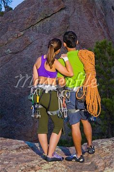 Rock Climbing couple photo