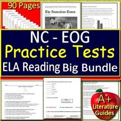 graphic regarding Printable 3rd Grade Eog Reading Practice Test identified as EOG Components NC Organized Try Prep
