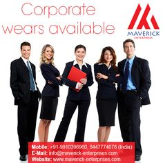 At Maverick Enterprises, we  believe in providing clothing  & wearables that truly  reflect what your company or  organization stands for.  What's more, we can provide  you clothing and accessories  that are fully customized and  within your budget. Contact us for more details +91-9910396960, 8447774078  (India) +971-564610928, 565431631  (UAE) Email : info@maverick- enterprises.com Visit: www.maverick- enterprises.com