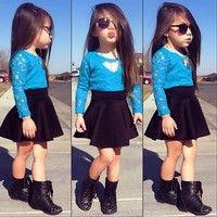 Jag tror du skulle gilla Kids Baby Girls Lace Floral Tops + Skirt Clothes Set 2pcs Set Outfits Suits. Lägg till den i din önskelista!  http://www.wish.com/c/544617a65f313f230fcf1fa2